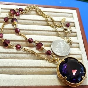 Vintage Lydell NYC purple necklace